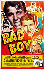 Poster / Leinwandbild BAD BOY, center: Audie Murphy, top right from left: ...