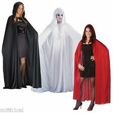 "68"" Hooded Cloak Cape Robe Medieval Vampire Adult Costume Accessory Unisex NEW"