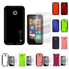 For Nokia Lumia  635 - Stylish TPU Hybrid Cover Case and Screen Protector