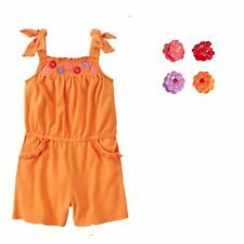 Gymboree Pretty Posies Smocked Romper & Set/4 Hair Clips 5 6 NWT