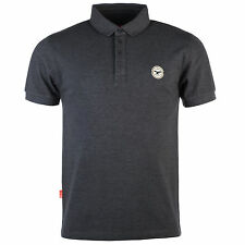 Mens Le Breve Plain Polo Shirt In Charcoal Marl From Get The Label