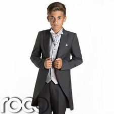 Boys Grey & Silver Tail Suit , Wedding Suits, Page Boy Suits, Slim Fit Suits