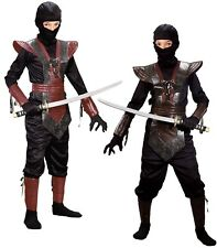 Ninja Fighter Warrior Costume Hood Boys Child Sm 6-8 Medium 8-10 Lg 12-14