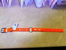 Valhoma Heavy Duty Dog Collar Double Ply Reflective Hunting ORANGE