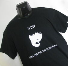 "NEW Kate Bush Inspired T Shirt Top Mens ~ ""WOW Thank you for the Music Kate"""