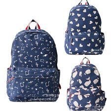 Cute Fashion Women's Canvas Travel Satchel Shoulder Bag Backpack School Rucksac