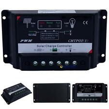 Upgrade Version 5/10/15/20/30A 12V/24V Autoswitch PWM Solar Charge Controller MO