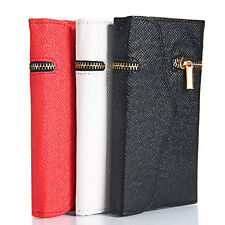 """New Three Sections Zipper Wallet Purse Leather Phone Case For iPhone 6 4.7"""""""