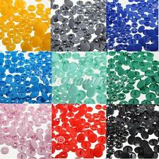 50 Sets T8 KAM Plastic Resin Snap Buttons Fastener Clips 9 Color fr Cloth Diaper