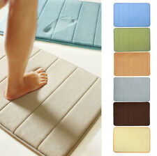 New 40x60 Microfibre Memory Foam Bathroom Shower Bath Mat With Non Slip Back