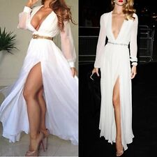 New White Formal Ball Prom Wedding Brides maid Maxi Cocktail Long Gown Dress
