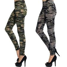 Army OLIVE CHARCOAL CAMO LEGGINGS Camouflage pants Bozzolo Cotton S M L