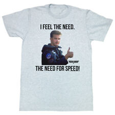 Top Gun 1980's Military Action Movie The Need for Speed Adult T-Shirt