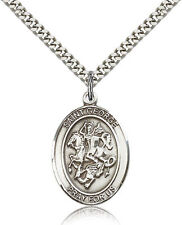 "SAINT GEORGE Catholic Church Sterling Filled Medal w/24"" or 18"" Chain"