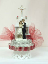 Wedding Bride and Groom Cake Topper Church Back Decoration Party Supplies