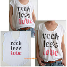 Junk Food Loose fits Easy Tank RECK LESS LOVE Silverlake Scoop Boxy NEW SALE