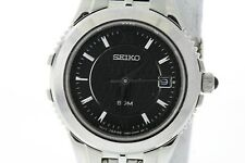 Ladies Seiko SXD799 Le Grand Sport Stainless Steel Black Dial Watch