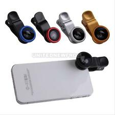 UN3F 3-in-1 Clip-On Fish Eye Lens Wide Angle Macro Lens for iPhone 4S/5 Samsung