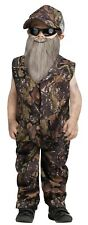 Red Neck Duck Hunter Dynasty Camouflage Beard Costume CHILD Toddler 3T/4T 4/6