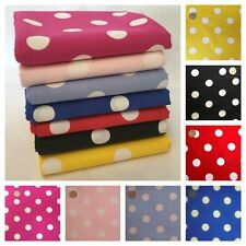 POLKA DOT FABRIC 22MM SPOTS, 100% FINE WEAVE COTTON 3 SIZES, SHABBY CHIC SPOTTY.
