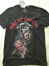 Sons of Anarchy T-Shirt Black Red White New with Tags REDUCED!