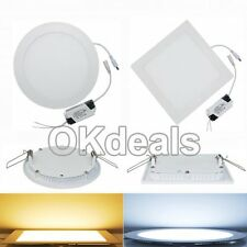 6W 9W 12W 15W 18W 21W Dimmable Recessed LED Down Lamp Panel Ceiling Light Bulb