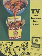4337 ROWNTREE'S FRUIT GUMS SWEETS VINTAGE STYLE METAL WALL SIGN BRAND NEW