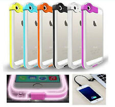 Flash Light up Case Skin Cover with USB Charge Cable for Apple iPhone 5/5S &4/4S