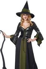 Womens Black Green Witch Halloween Costume