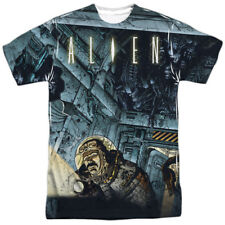 Alien Horror Science Fiction Movie Comic Book Attack Adult Front Print T-Shirt