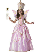 Childs Pink Fairy Godmother Gown Dress up Halloween Costumes Girls