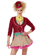 Sexy Mad Hatter Alice In Wonderland Disney Adult Halloween Costume Womens