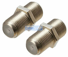 F Type Female Coupler for SKY SAT Joiner Screw Extend 2 Satellite Dish Cables