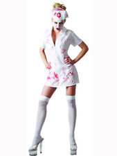 Adult Bloody Zombie Killer Nurse Fancy Dress New Costume Womens Sexy Halloween