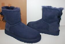 Ugg Mini Bailey Bow Peacoat navy blue women's boots New In Box!