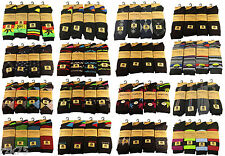 6 Pairs Of Men's Designer Socks, Cotton Rich Designs by SockStack, Size 6-11