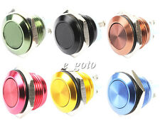 Cyan/Brown/Yellow/Black/Blue/Red Stainless 16mm Start Horn Momentary Push Button