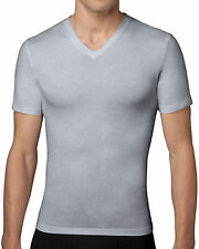 Spanx, Men's Shapewear, Cotton Compression V-Neck 610 White