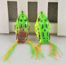 Frog 1PC Cute Large Topwater Fishing Lure Crankbait Hooks Bass Bait Tackle