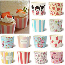 "50pcs Utility Cake Baking Paper Cup Cupcake Muffin Cases fit Home Party 2"" New"