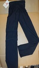 NWT Bal Togs Lycra Jazz Pants Black Style 86209 shiny lycra Ladies rolldown wst