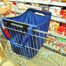 Reusable Durable Eco Bag Shopping Cart tote-hooks on cart- use handles to carry