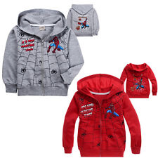Boys Girls Kid Hero Hoodie Top Shirt Outwear Sweatshirt 2-8T Cotton Coat Clothes