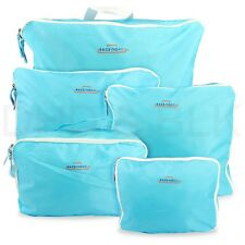 5 X sizes Travel Pouch Luggage Packing Organizer Bag Case For Clothing Storage