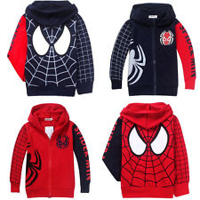 New Arrivals Spider-Man Clothes 2-8Y Kids Boys Hoodies Jacket Coat Outwear hot