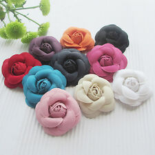10PCS Ribbon Bows Flowers Roses Appliques Wedding Craft Decoration A0408