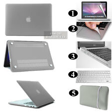 Grey Frosted Matte Rubberized Hardshell Hard Case Cover For Apple MacBook