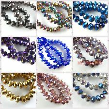Lots 99 Charm 3x2mm Rondelle Faceted Glass Crystal Findings Spacer Beads 52color