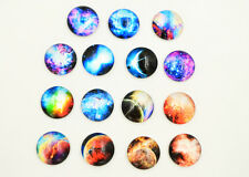 5/50/100pcs 20MM  Classic Colorful Universe Star Galaxy Dome Glass Cabochon