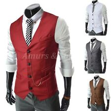 FASHION Mens Slim Suit Blazer Formal Casual Dress Vests Waistcoat Jacket Coats